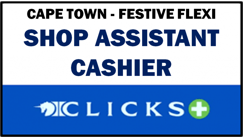 Cashier Job Cape Town City Centre. Need to have grade 12 qualification. Non-Smoker, with good health, need to be able to lift and carry boxes. Need to be able to communicate in Afrikaans and English.