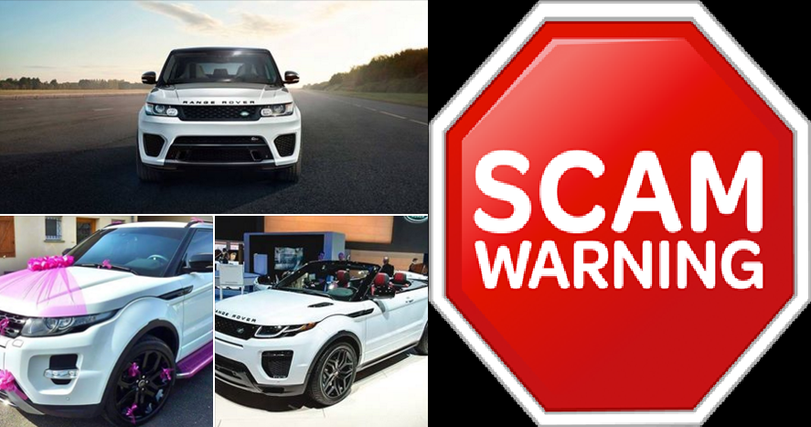 learn share this free 2 range rover facebook giveaway scam. Black Bedroom Furniture Sets. Home Design Ideas