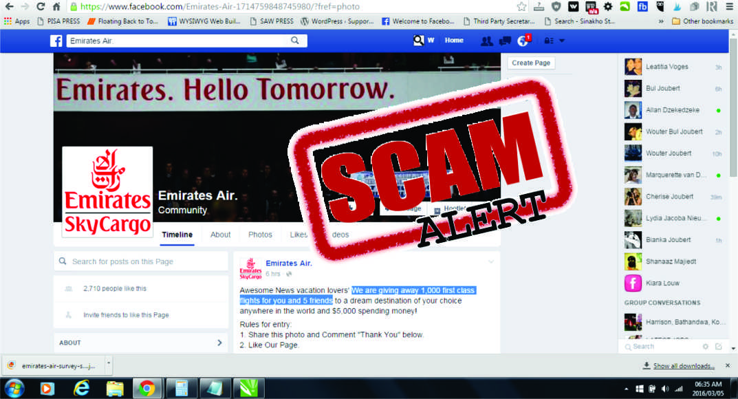 EMIRATES AIR SCAM