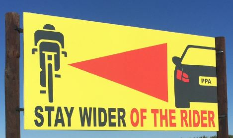 Cycling safety sign